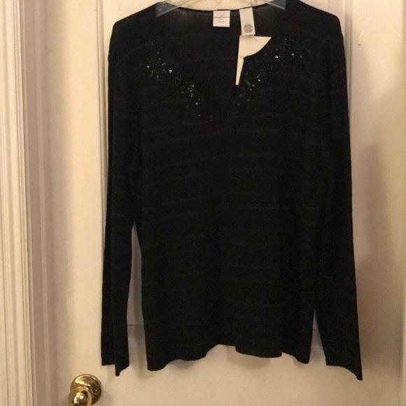 Emma James Black Sequin Sweater